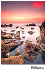Cap d'Antibes #34 (French Riviera) (Eric Rousset) Tags: longexposure sea mer seascape france sunrise canon landscape photography rocks europe ctedazur reef paysage canonef1740mmf4lusm mediterraneansea 2012 hoya waterscape slowshutterspeed capdantibes frenchriviera provencealpesctedazur singhray hoyand8 canoneos5dmarkii ericrousset galenrowellsinghray3stopgndfilter darylbensonsinghray3stopreversegndfilter
