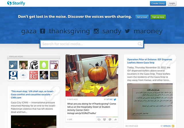 Storify-new home page