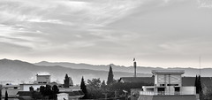 Monochromatic Quetta.... (Haris the Vivid Framer) Tags: city pakistan by landscape twilight monochromatic hills harris urbun haris quetta balochistan