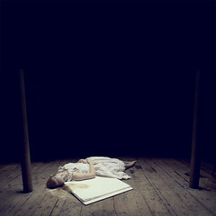 The Book (Beata Rydn) Tags: sleeping fairytale dark square photography book photo darkness dream dreaming workshop imagination dreamy fineartphotography darkfairytale photographicartist brookeshaden brookeshadenworkshop beatarydn rosiekernohan