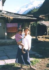 Children, Pokhara District, Nepal (east med wanderer) Tags: nepal trekking children village pokhara himalayas fishtail machhapuchhare annapurnarange theindiatree bharvari
