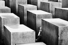 Vanishing (Village9991) Tags: berlin monument girl forest concrete shoah berlino olocausto