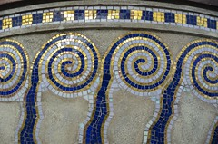 Secession (anuwintschalek) Tags: vienna wien november blue autumn white detail building gold austria herbst secession ornament vase blau weiss gebude 2012 jugendstil vaas sgis sezession viin valge 18200vr sinine kuld d7k hoone nikond7000