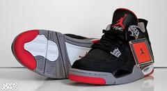 air jordan IV bred 48/52 (viewsfromthe519) Tags: red black basketball grey shoes air 4 sneakers trainers nike retro jordan kicks 23 1989 iv 2012 jumpman bred airjordan