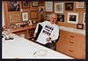 James D. Watson wearing a Ross Perot shirt, 1992 (CSHL Archives) Tags: politics watson 1992 cshl rossperot jamesdwatson