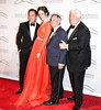 Michael Cominotto, Coco Rocha, Neil Sedaka and Dennis Brasso The Silver Hill 2012 Gala New York City