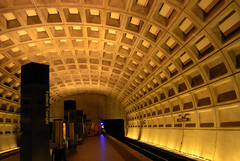 D.C. Metro Station (LexMercedesss) Tags: public architecture subway dc washington triangle metro transit federal