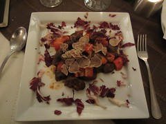 White truffle over squid ink gnocchi, Mondo Konoba - Motovun (CommandZed) Tags: travel europe croatia easterneurope adriatic