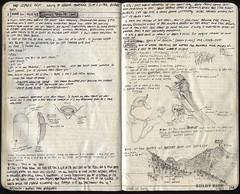 047-048 (The Hike Guy) Tags: moleskine watercolor journal kirk moleskinerie sierranevadamountains kolby notebookism