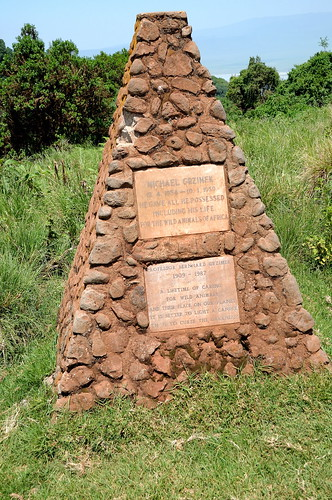 Michael Grzimek monument at Ngorongoro Crater  in Tanzania-01 1-22-12