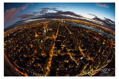 planet NYC (Emmanuel DEPARIS) Tags: world new york city light usa night lumire fisheye emmanuel deparis