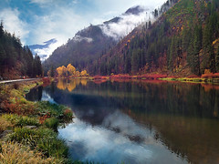 Last Month on Stevens Pass (h_roach) Tags: mountain lake nature horizontal forest photoshop reflections outdoors scenery explore pacificnorthwest washingtonstate stevenspass iphone gettyimage natureselegantshots jolandalake
