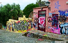 Graffiti colors (Eleanna Kounoupa (Melissa)) Tags: colors graffiti ruins athens greece plaka