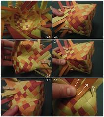 Heart Box Tutorial 5/6 (Dasssa) Tags: origami heart box weaving tutorial paperstrips dasssa