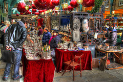 Who'll Buy my Wares? (GreasyJoe) Tags: red london market christmasballs christmasdecorations coventgarden hdr marketstalls applemarket coventgardenmarket photomatix tonemapped tonemapping christmasbaubles handheldhdr canoneos600d