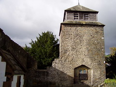 Newtown Autmn 2007 (DizDiz) Tags: uk wales churchtower belltower newtown olympusc720uz