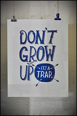 don't grow up (rick) Tags: hello sanfrancisco its up store grow dont lucky soma stationery trap 2012 hellolucky