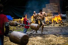 Running The Gauntlet (aaronkaiser) Tags: race fire losangeles nikon mud marathon malibu spartan gladiator gauntlet calimigosranch d3100