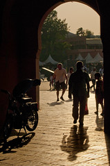 Morocco - Marrakech - Jemaa el-Fnaa archway (Darrell Godliman) Tags: africa city travel light sunset shadow copyright silhouette arch shadows northafrica silhouettes morocco maroc marrakech marrakesh backlit archway allrightsreserved travelphotography jemaaelfnaa dgphotos darrellgodliman wwwdgphotoscouk ©dgodliman moroccomarrakechjemaaelfnaaarchwaydsc5375 wwwfacebookcomdsgphotos