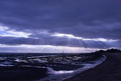 Glimpse of bright (Andrew Areoff) Tags: moody purple cloudy calm coastline lonely amethyst essex shoeburyness eastbeach