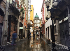 Santos - Rua XV de Novembro (Stefan Lambauer) Tags: street city cidade brazil rain brasil santos rua rue 2016 bolsadocaf ruaxvdenovembro stefanlambauer