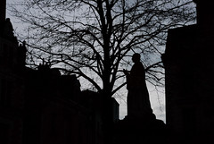 Saint Cross (pieceyen) Tags: travel france angers city street streetphotography church sainte statue silhouette tree stately