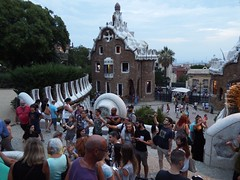 Parc Gell (Anita Filippova) Tags: spain barcelona parc guell people tourists photos selfie sticks