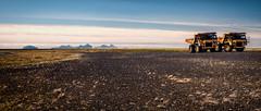 Iceland (SpechtPhotodesign) Tags: island iceland trucks baufahrzeuge vehicles panorama ausblick aussicht view westmnnerinseln vestmannaeyjar inseln lava blacksand mountains