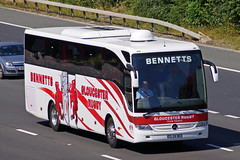 Bennett, Gloucester - GL05 BUS (peco59) Tags: gl05bus mercedesbenz mercedes tourismo bennettgloucester bennettscoaches gloucesterrugby psv pcv teamcoach