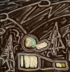 The Spirit of 76 (tobysx70) Tags: polaroid sx70 sonar emulsion manipulation time zero tz instant film the spirit of 76 ventura blvd boulevard studio city los angeles la california ca union unocal gas petrol station night nocturnal lit illuminated thespiritof76 ball toby hancock photography