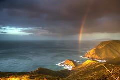 Cape Reinga Rainbow (hapulcu) Tags: capereinga newzealand northisland nz northland dusk kiwi rainbow sunset winter