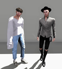 Why'd I let you go I needed your warm embrace. (Levi Megadon // *OMG*) Tags: sl secondlife men mens male blogger blog style look lotd looks fashion clothing clothes events mesh tmd kustom9 themensdept unorthodox hairbase hair dura hx rut bandaid earring amerie denim pants loose rollup rolled cuff baggy jeans pant newclover shirt sweater long knit modulus tracei aitui sau wallet kunst smoke cigarette chronokit dress formal represent ripped destroyed skinny fitted urban cool dope fresh hipster davidheather brogues oxfords shoes hoorenbeek sneakers sneaks classic vintage oldschool socks