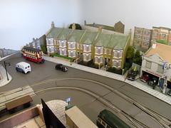 Redevelopment (kingsway john) Tags: 176 scale oo tram layout london transport model diorama gauge victorian terraced houses terrace gardens