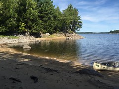 found a sandy beach for lunch (Gillian Walker) Tags: crotch lake ontario canoeing camping summer labour day 2016