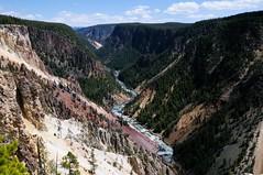 Inspiration Point (YuriZhuck) Tags: us usa wy wayoming nature canyon landscape yellowstone park rock river