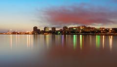 Cagliari (Lorenzo Cocco Photography) Tags: cagliari skyline casteddu sunset tramonto crepuscolo riflessi reflections sigma1835 d7200 sardegna sardinia sea mare porto harbour italia italy cloud nuvola longexposure lungaesposizione