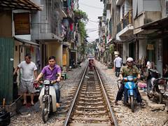 tracks through the oldtown (grapfapan) Tags: livingspace people street railways tracks oldtown vietnam hanoi
