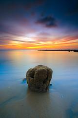 LEFT ALONE. (Kamaruz Zaman) Tags: canon canonphotography colourful coast waterscapes landscapes leefilter longexposure penang