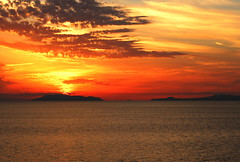 Romantic Cruise (petrk747) Tags: aeolianislands sicily italy tyrrheniansea cruise mediterraneancruise sea water sunset sunrise clouds heaven travellingbyship voyage nature outdoor exoticimage