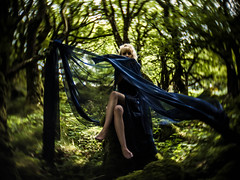 Mistress of the Forest (i-r-paulus) Tags: girl forest cctvlens distortion distorted mysterious mystical odd weird magical fantasy
