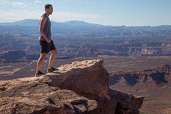 This is one of the scaries places I stood on the whole trip (mattsj1984) Tags: people parks canyonlandsnationalpark nationalparks matthewjohnson islandinthesky