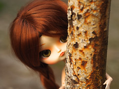 Hide-and-seek (Malina (LaelP)) Tags: doll puppe mueca poupe pullip dal groove frara my select cassie cassidy obitsu 23 obitsu23 green eyes chips red hair toy malina asian fashion dress flowers outdoor people
