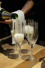 PERRIER-JOUET BELLE EPOQUE (HAMACHI!) Tags: tokyo bbq 2016 japan food  zenibakobbq hokkaido ginza shinbashi charcoalgrill dinner pub drink champagne perrierjouetbelleepoque fujifilmx70 fujifilmx x70