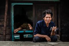 Men - Front and Back-DSC_8263 (thomschphotography3) Tags: asia indonesia jakarta harbour men smoking colours colourful portrait