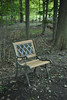 Chair in the Woods (Michael Daum) Tags: nikon d700 50mmf18af seminary nature walk nxd