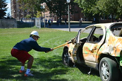 TKE Car Smash Fundraiser (dailycollegian) Tags: tke frat fundraiser cancer stjude 91216 jessicapicard umass umassamherst universityofmassachusetts universityofmassachusettsamherst car sledgehammer kevorkhamparian