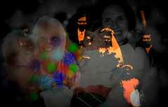 Five Generations of Love (soniaadammurray - OFF) Tags: digitalphotography manipulated experimental abstract family generations love collage