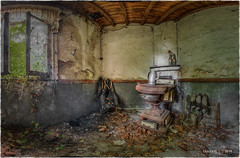 A well-ventilated room... (Yamabxl) Tags: abandoned abbandonato belgium creepy decay derelict dereliction kitchen pole stove forgotten forbidden ghost hdr highdynamicrange hidden lostplaces panorama prohibed prohib urbex urbanexploration urbexhdr verfall verlassen verlaten