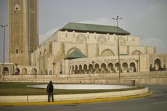 Jonmikel pondering the Hassan II Mosque, Casablanca (Jonmikel & Kat-YSNP) Tags: casablanca morocco march 2007