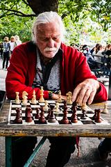 Chess (@lattefarsan) Tags: chess old man red jacket kungstrdgrden stockholm street streetphoto